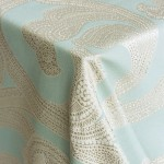 Ankara Aquamarine Fine Linen Rental from Napa Valley Linens
