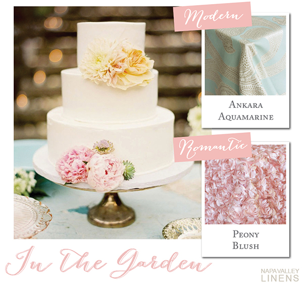 Delicate Pastel Wedding Cake | Styling a Wedding Cake Table from Napa Valley Linens