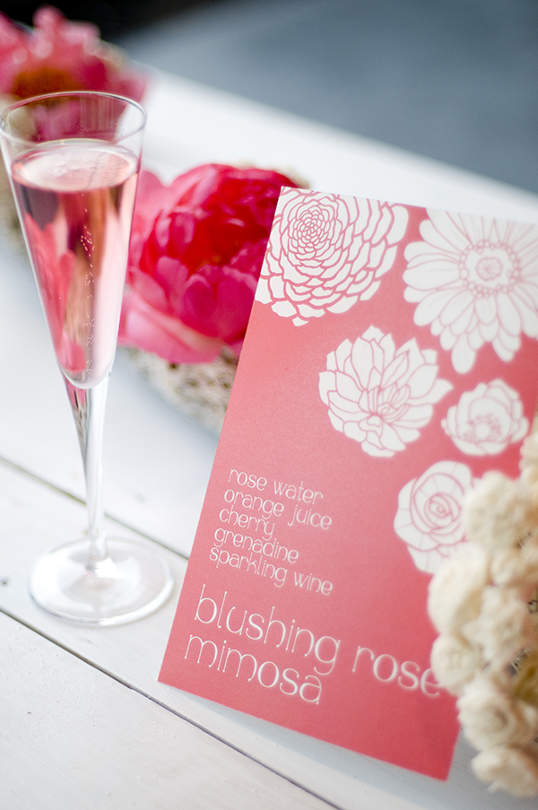Blushing Bride Mimosa for a Specialty Cocktail | Angie Silvy Photography | Suite Retreat - Modern Wine Country Wedding Inspiration from Napa Valley Linens
