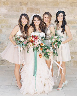 Bridesmaids Each Picked their Blush Dress! | Jen Huang Photography | Grey Likes Weddings Gets Married! Inside Summer Watkins