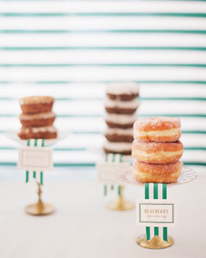 Stacks of Donuts Instead of Wedding Cake | Jen Huang Photography | Grey Likes Weddings Gets Married! Inside Summer Watkins