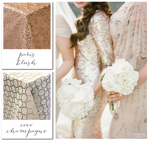Blush and Champagne Sparkling Winter Wedding | Gorgeous Winter Color Palettes to Celebrate the Holidays!