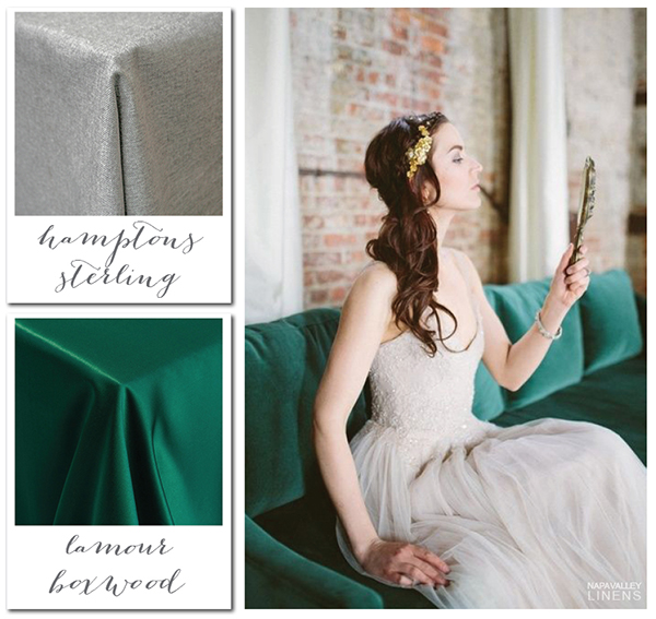Emerald and Silver Enchanting Winter Wedding | Gorgeous Winter Color Palettes to Celebrate the Holidays!