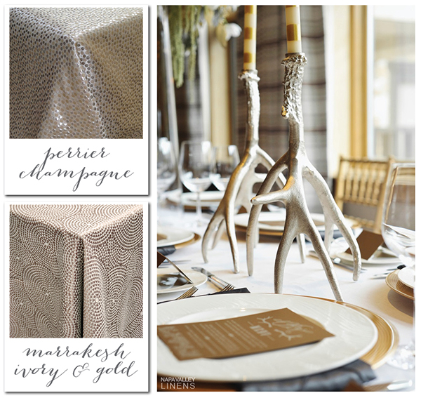 Mixed Metallic Winter Wedding Decor | Gorgeous Winter Color Palettes to Celebrate the Holidays!