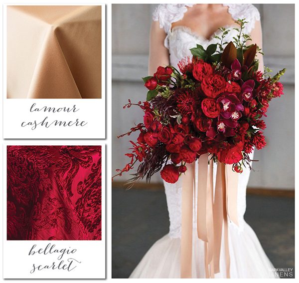 Red and Cashmere Elegant Winter Wedding | Gorgeous Winter Color Palettes to Celebrate the Holidays!