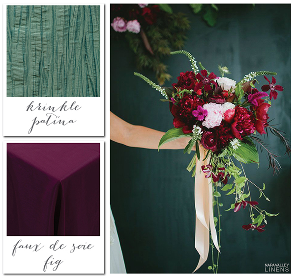 Teal and Burgundy Botanical Bouquet | Gorgeous Winter Color Palettes to Celebrate the Holidays!