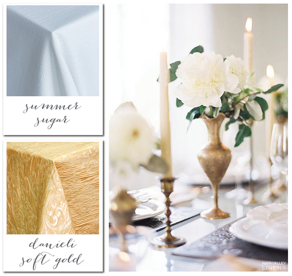 Elegant White and Gold Holiday Party Decor | Gorgeous Winter Color Palettes to Celebrate the Holidays!