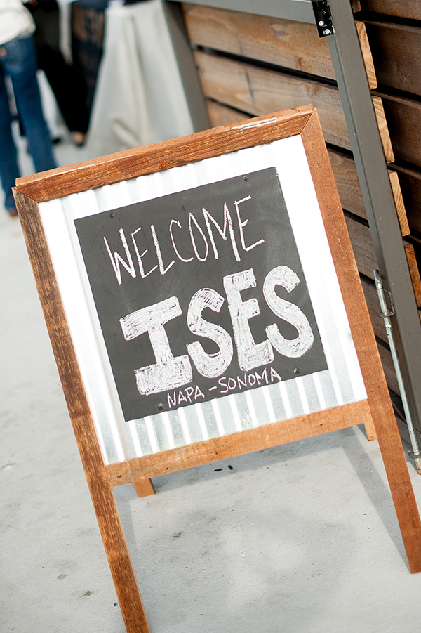 Chalkboard Welcome Signs | Gina Peterson Photography | Modern Industrial Event Inspiration from ISES Napa-Sonoma