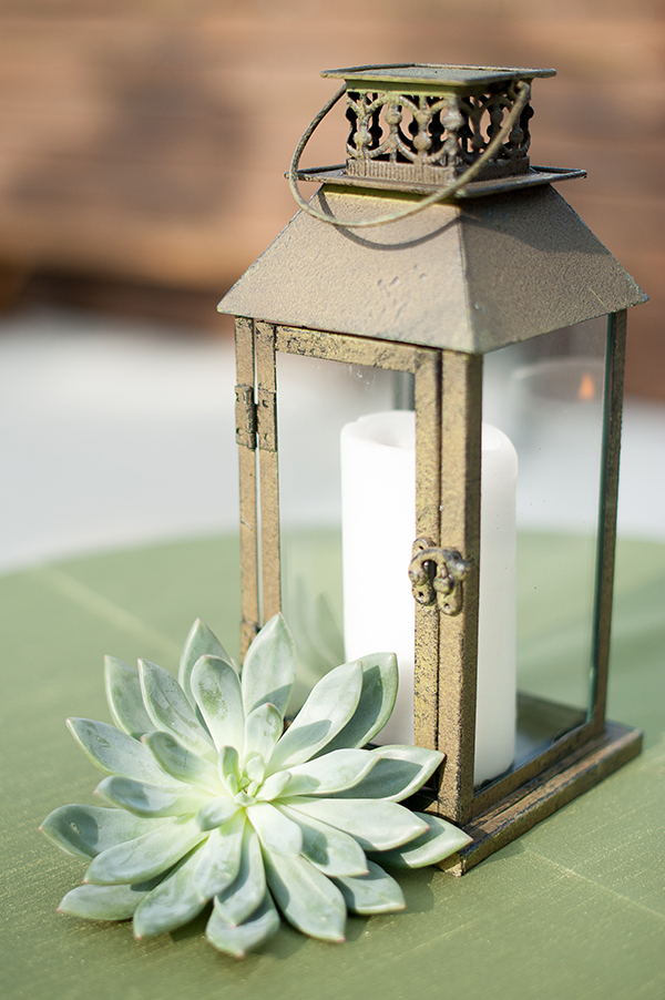 Rustic Metal Lantern Table Decor with Succulents | Gina Peterson Photography | Modern Industrial Event Inspiration from ISES Napa-Sonoma
