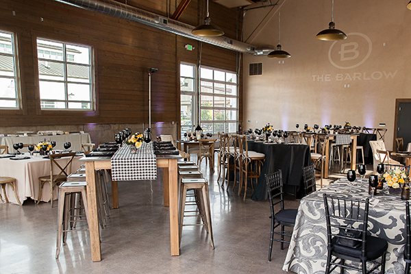 Mixed Patterns and Modern Neutrals in a Rustic Industrial Event Space | Gina Peterson Photography | Modern Industrial Event Inspiration from ISES Napa-Sonoma