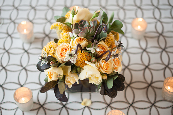 Modern Black and White Table Decor | Gina Peterson Photography | Modern Industrial Event Inspiration from ISES Napa-Sonoma