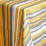 Safi Mustard Striped Table Runner