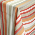 Safi Pumpkin Striped Table Linen