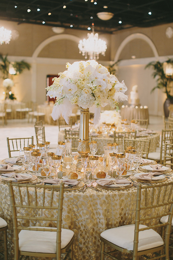 Opulent Gold and White Metallic Wedding | Jake and Necia Photography | Sparkling Metallic Wedding and Party Ideas