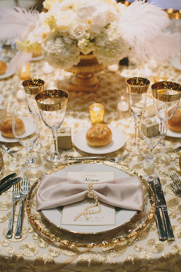 Glamorous Gatsby Inspired White And Gold Wedding Napa