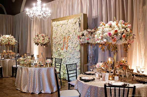 Chanel Inspired Table  Designs in Coco Champagne Linens | Champagne Wishes and Botanical Dreams at Casa Amore 2014