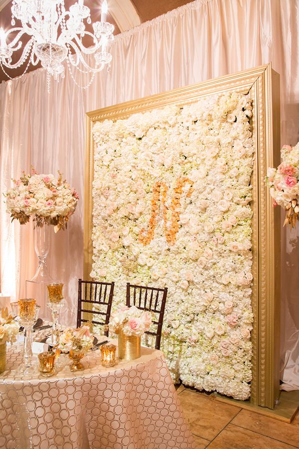 Monogram Floral Wall Inspired by Chanel | Champagne Wishes and Botanical Dreams at Casa Amore 2014