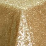 Paris Gold Sequin Table Linens