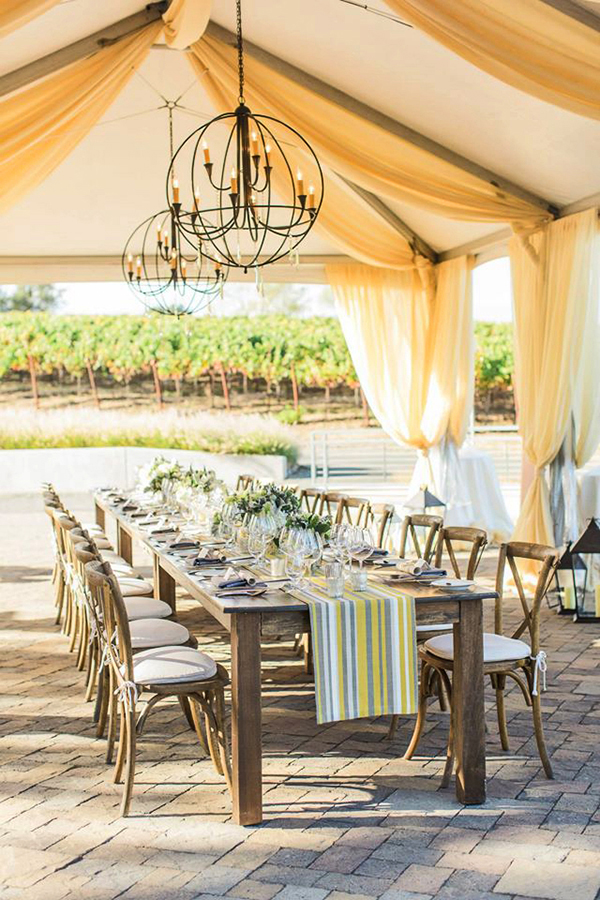 Sunny Yellow Wedding Canopy in Napa Valley | Mallory Miya Photography | I