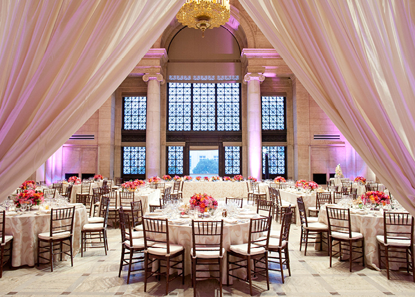 Elegant Modern Blush Wedding Reception | Jesse Leake Photography | Luxury Linens for any Wedding Budget!
