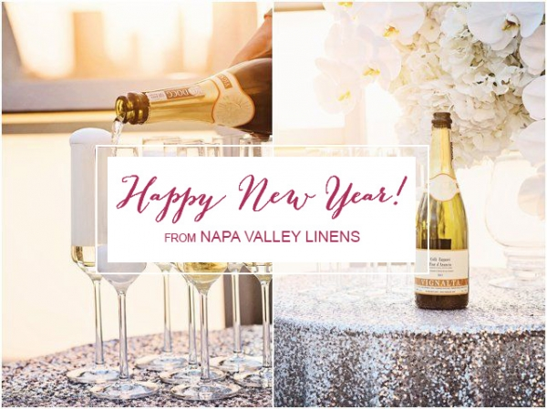 Happy New Years 2015 from Napa Valley Linens! | Grace Aston Photography