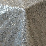 Sparkling Silver Sequin Paris Linen from Napa Valley Linens