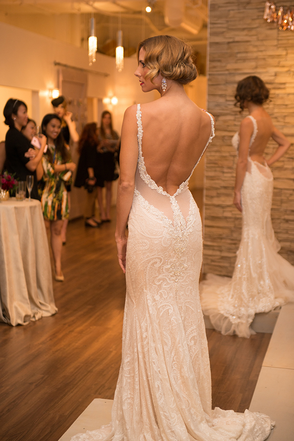 Lace Wedding Dress with a Low Back | Brian MacStay Photography | Tales of the Jazz Age - A Galia Lahav Preview at Kinsley James Couture Bridal Salon
