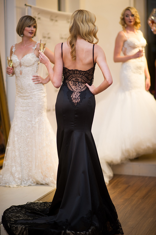 Slinky Black Wedding Dress | Brian MacStay Photography | Tales of the Jazz Age - A Galia Lahav Preview at Kinsley James Couture Bridal Salon