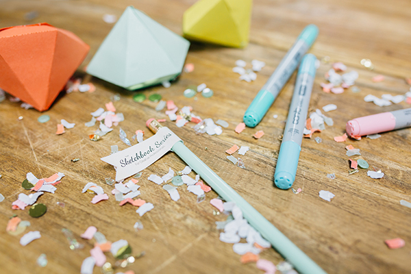 DIY Geometric Gem Escort Cards | Photoflood Studios | Partnering with The Sketchbook Series!