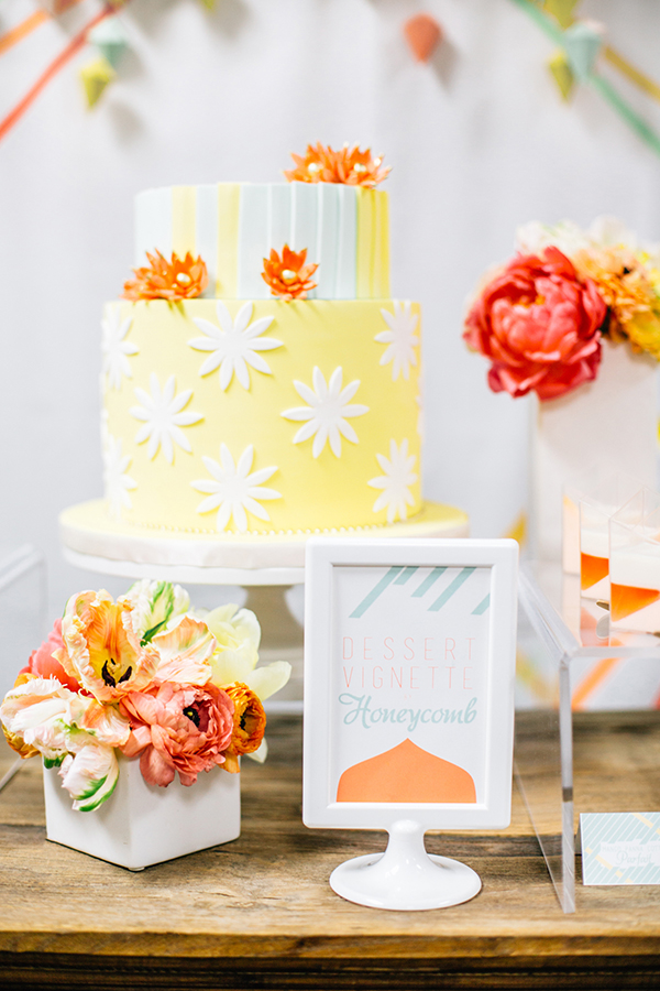 Cheerful Modern Wedding Cake | Photoflood Studios | Partnering with The Sketchbook Series!