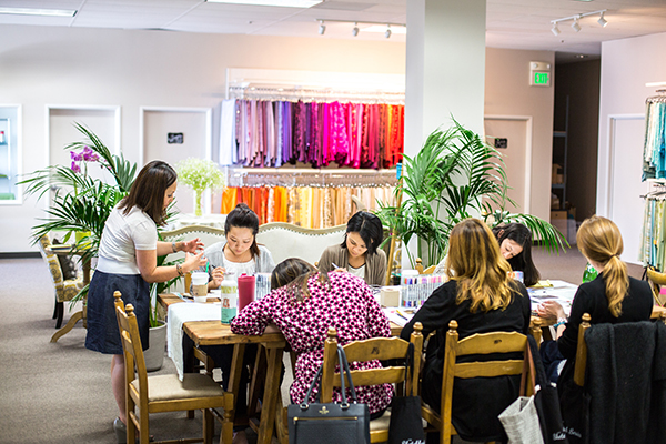 Sketching Class in the Napa Valley Linens Showroom | Photoflood Studios | Partnering with The Sketchbook Series!