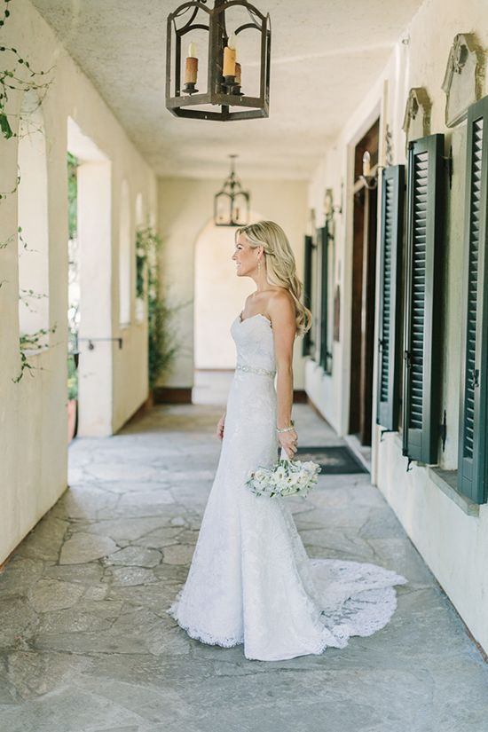 Classic Bride in a Lace Gown | Matt Edge Wedding Photography | French Inspired Wedding at a Wine Country Chateau