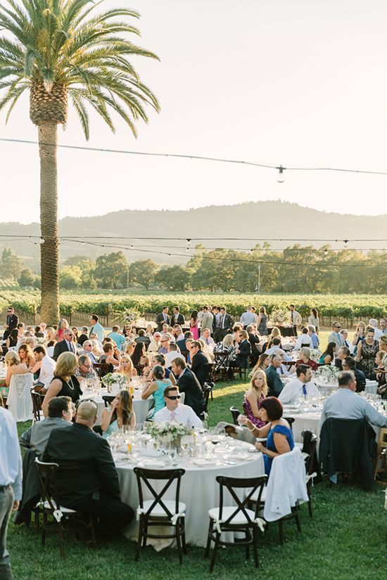 Vineyard Wedding Reception | Matt Edge Wedding Photography | French Inspired Wedding at a Wine Country Chateau