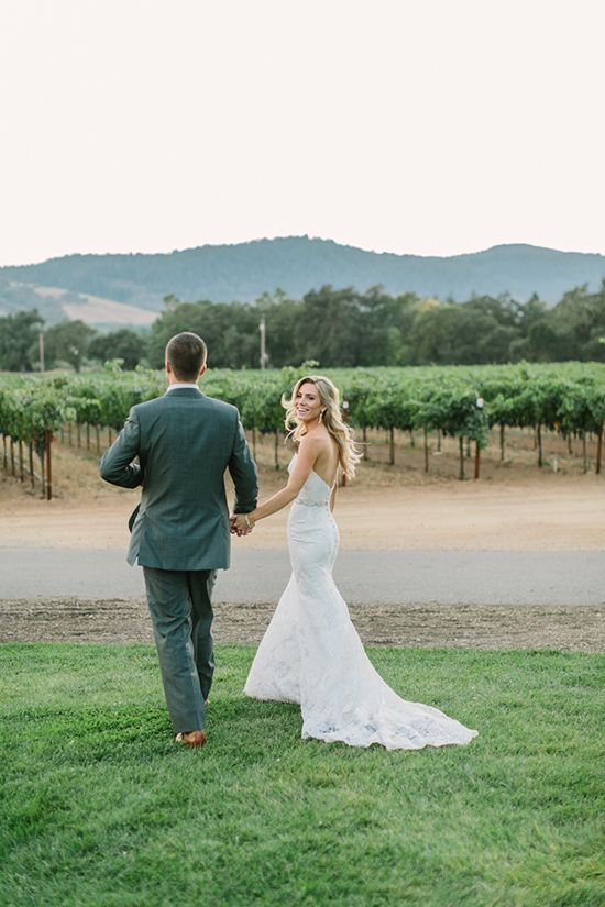 Bride and Groom Portraits in the Vineyard | Matt Edge Wedding Photography | French Inspired Wedding at a Wine Country Chateau