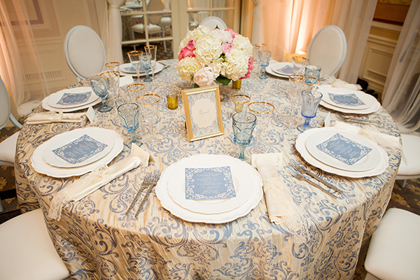 Elegant Powder Blue and Cream Wedding Table | Colson Griffith Photography | French Chic at the San Francisco NACE Gala 2014!