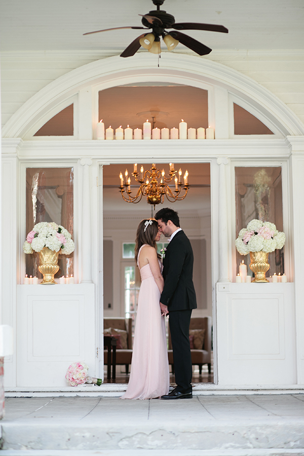 Elegant Blush and Gold Mansion Wedding Shoot | Gladys Jem Photography and Charmed Events Group | A Charming Blush Valentines Day Elopement