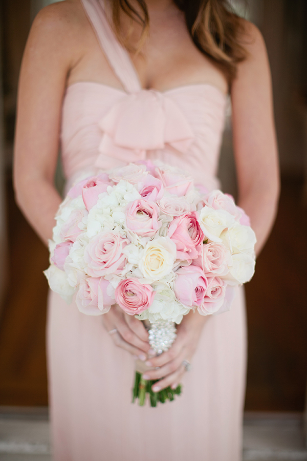 Blush and Ivory Rose Bouquet | Gladys Jem Photography and Charmed Events Group | A Charming Blush Valentines Day Elopement