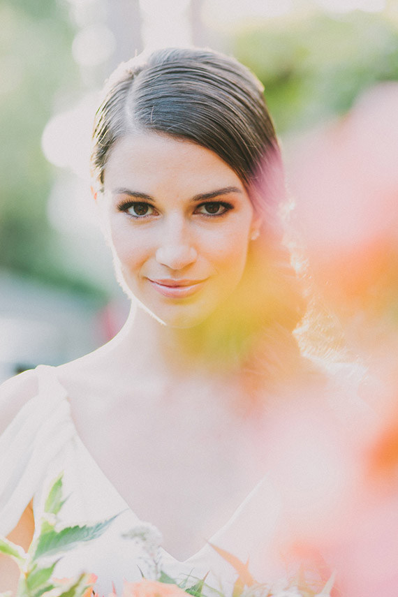 Glowing Natural Bridal Makeup | Fondly Forever Photography and Summer Newman Events | A Citrus Summer Wedding in Southern California