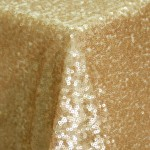 Paris Gold Sequin Overlay Table Linen