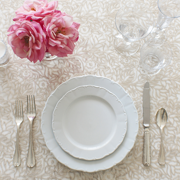 Overlay Flora Matte Gold | Introducing the Summer 2015 Collection from Napa Valley Linens!