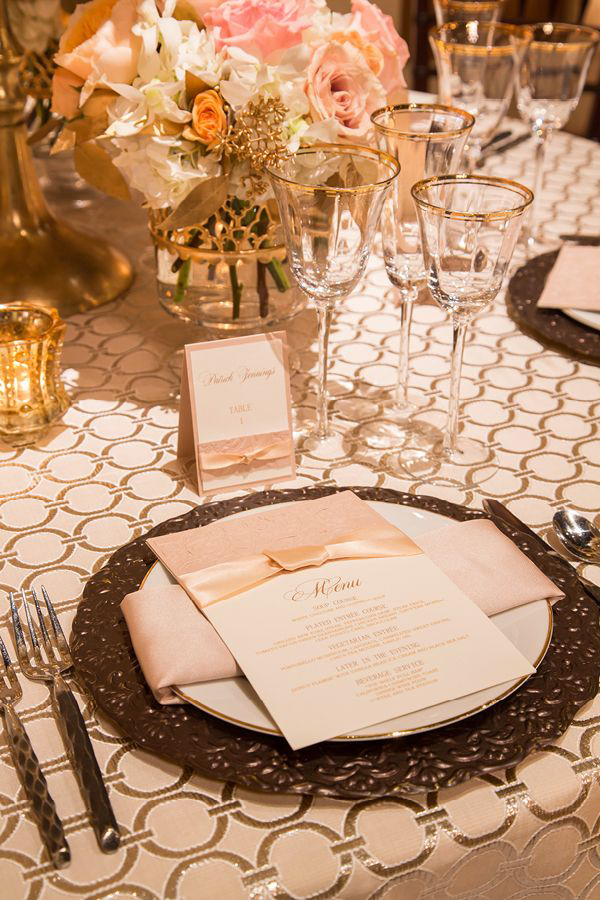 Silver and Champagne Chanel Inspired Wedding | @nvlinens | Playing with Geometric Prints for Summer!