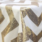 Gold and White Sequin Chevron