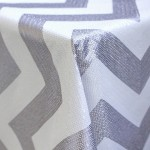 Silver and White Sequin Chevron