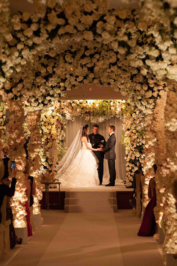 Indoor Garden Ceremony | Jay Lawrence Goldman Photography | Luxurious White and Cream Beverly Hills Wedding