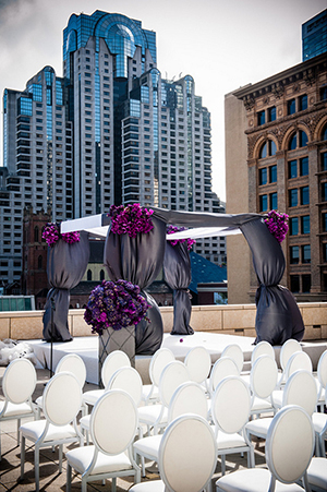 Luxurious Rooftop Wedding Ceremony in Downtown San Francisco | Arrowood Photography