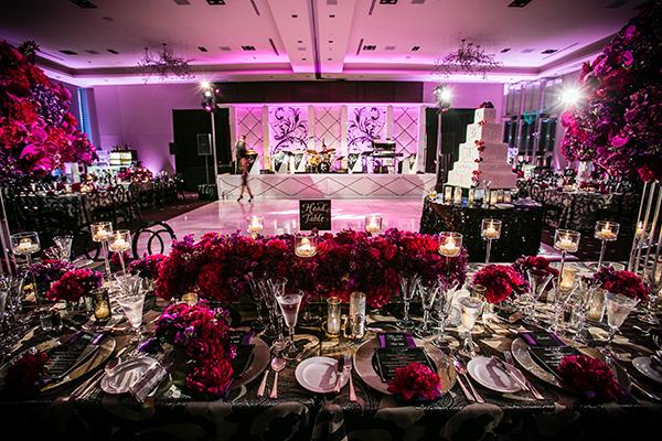 Elegant San Francisco Ballroom Wedding in Charcoal and Fuchsia | Arrowood Photography