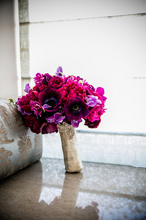 Fuchsia and Purple Bouquet | Arrowood Photography