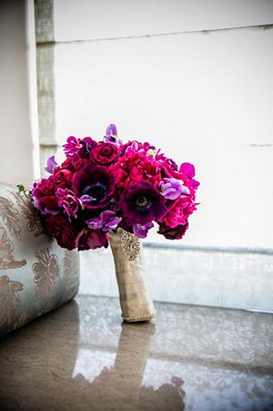 Fuchsia and Purple Bouquet | Arrowood Photography