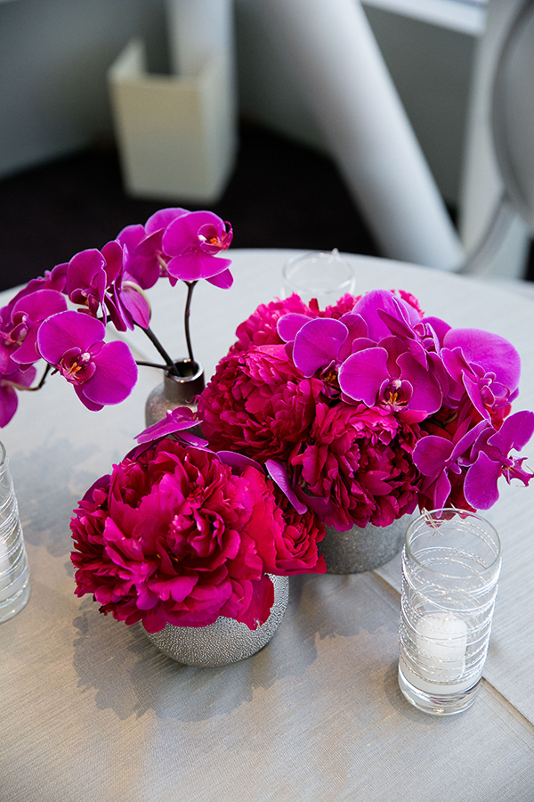 Fuchsia Floral Arrangements | Arrowood Photography