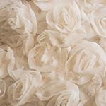 Boheme Cream Floral Chiffon Overlay